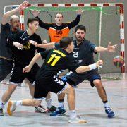 Die Nummer 11 Marc Rühle (hier beim Spiel gegen Mundelsheim) machte am Samstag sein letztes Heimspiel für die Erste Männermannschaft. Bild: Barth