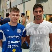 Das erste Training ist bereits absolviert: Marcel Meyer und Christian Tutsch verstärken die SG Weinstadt zur kommenden Saison.