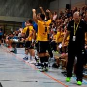 Auf den Teamgeist kommt es an beim Spitzenspiel gegen die TSF Ditzingen. Bild: Barth