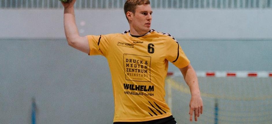 Die SG wird vorerst auf Manuel Künkele verzichten müssen - er hat sich im Spiel gegen Neckarelz die Nase gebrochen. Bild: RZ Photographie