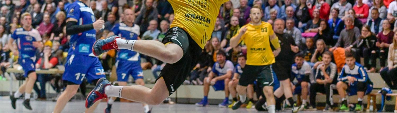 Elf Tore steuerte Marcel Meyer zum spektakulären 50:35-Sieg über Mundelsheim bei. Bild: HWT