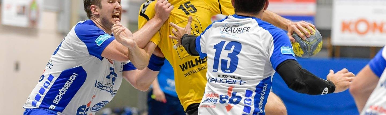 Im Hinspiel zeigten Luis Kuhnle und seine Weinstädter ein starkes Spiel gegen die HSG Schönbuch. Foto: HWT
